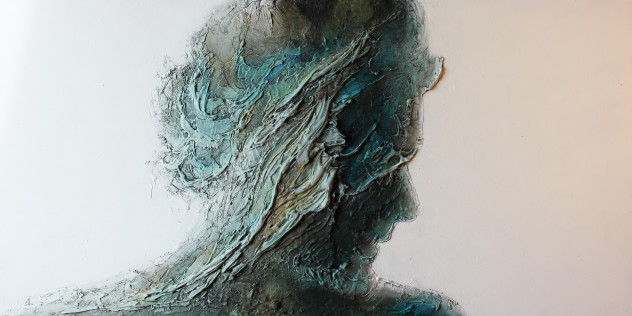Make a good choice, 2014, tecnica mista su MDF, 120 x 60 cm