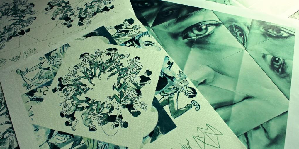 Split Art Origami e locandina - in collaborazione con Luca Genovese