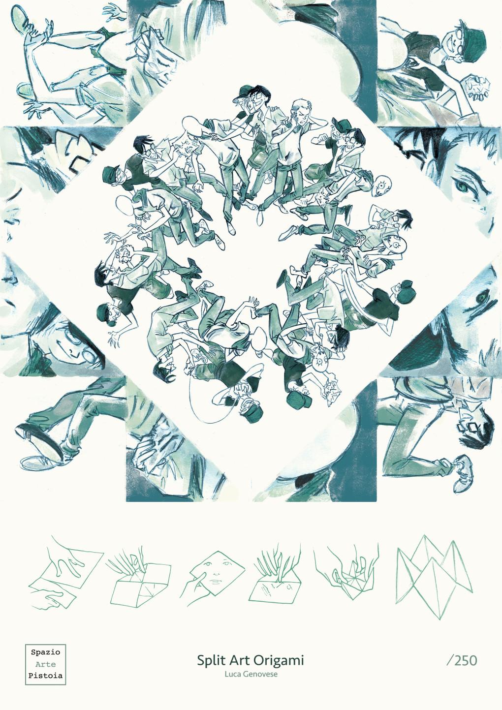 Split Art Origami - opera di Luca Genovese